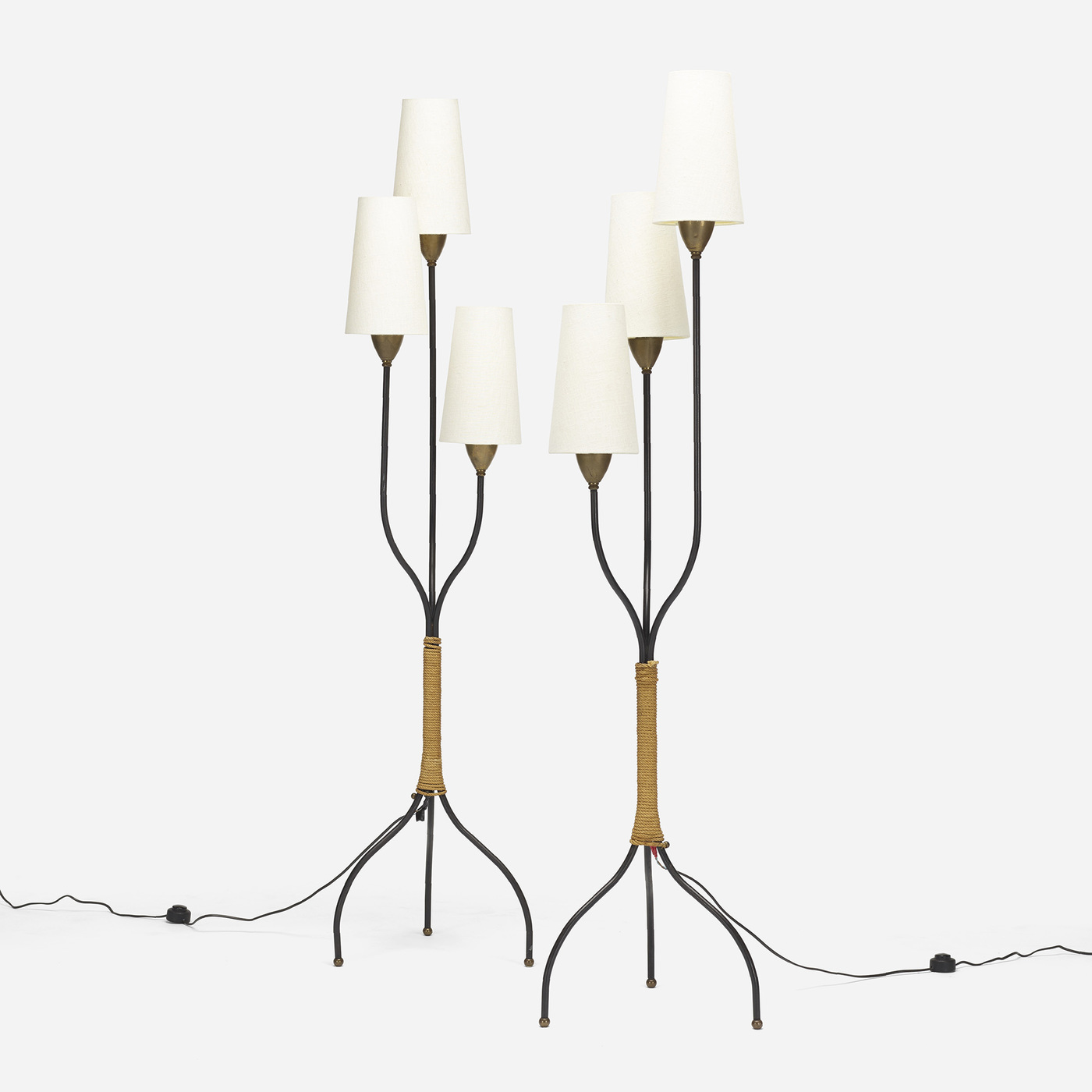 french floor lamps  pair